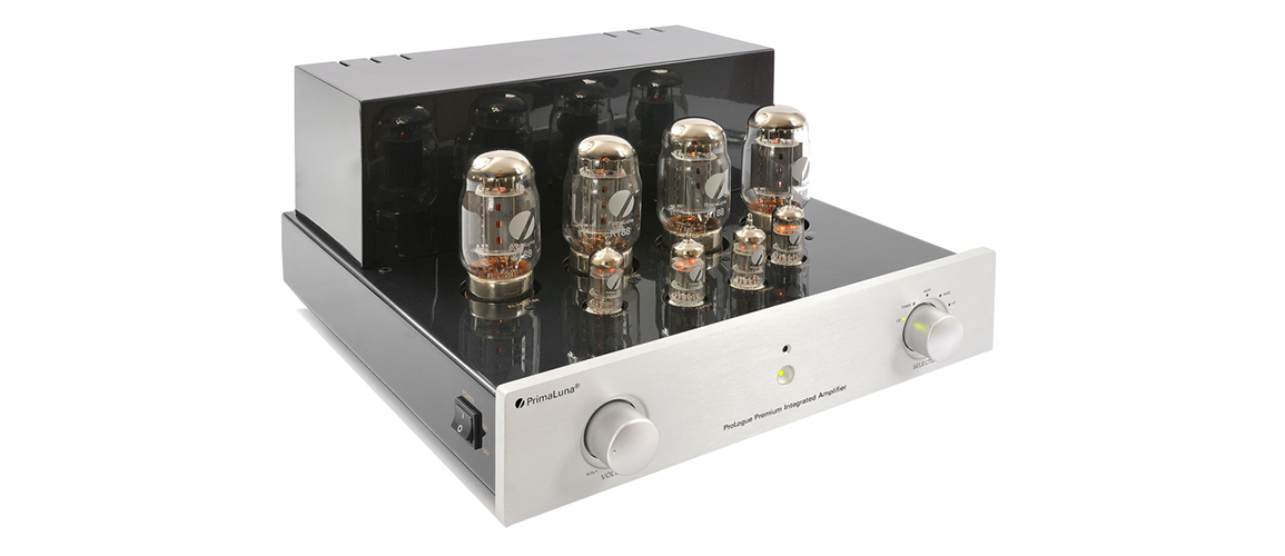 gal5 Prologue Premium Integrated Amplifier silver front side with no cover LR JPG
